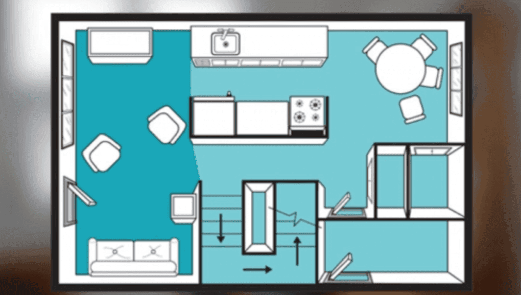 floor plan of clv south residence