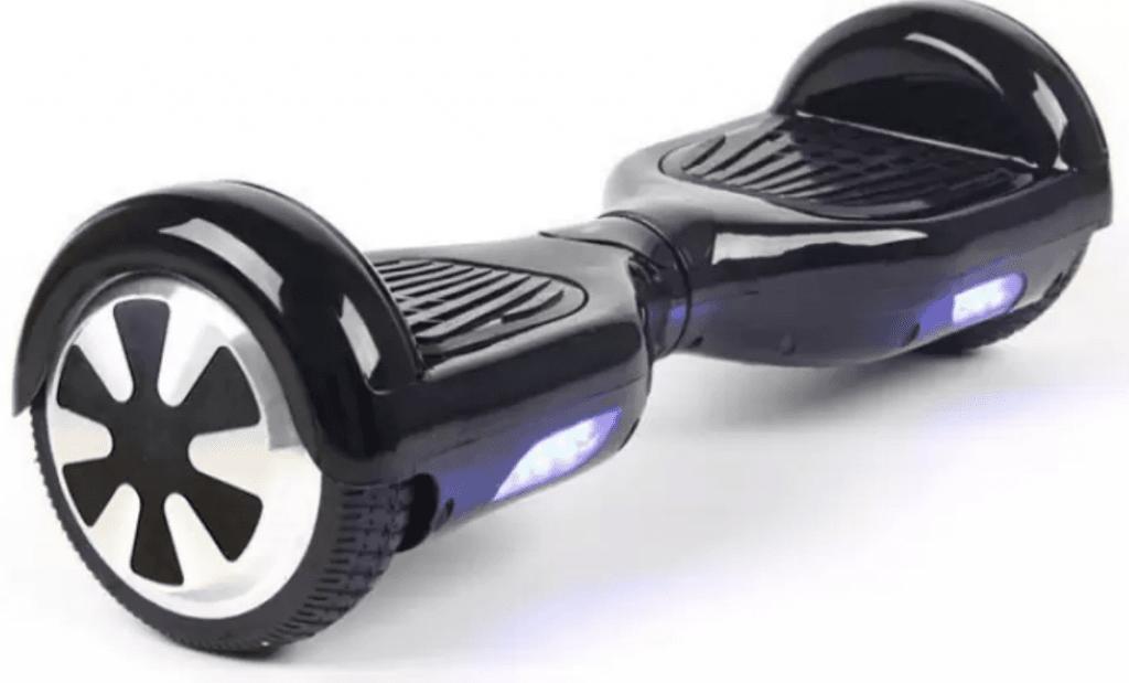a black hoverboard
