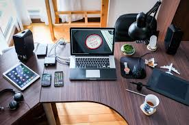 Table with various Tech gadgets
