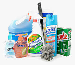 Different cleaning supplies