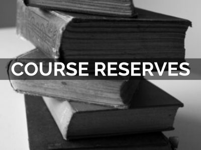 Course reserves graphic logo