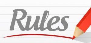 Red pen underlining rules