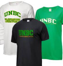 UNBC shirts