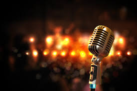 This picture of a microphone epitomizes karaoke!