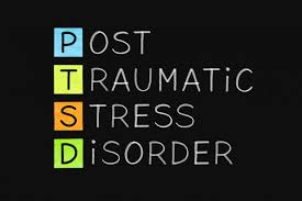 This poster is used to remind students how important PTSD awareness is.
