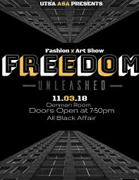 Flyer for this year's fashion show.