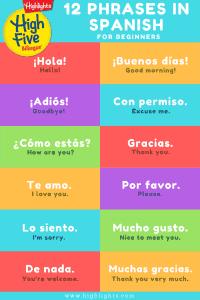 Some common Spanish phrases.