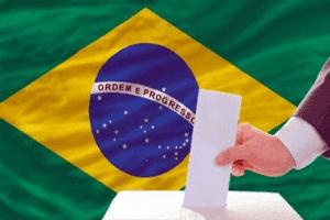 Someone voting in Brazil.