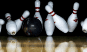 Picture from a bowling game.
