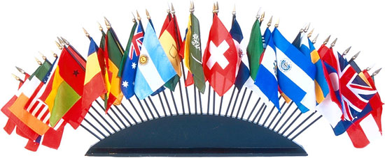 These flags are a great symbol of the International Club, and the diversity this club strives to promote.