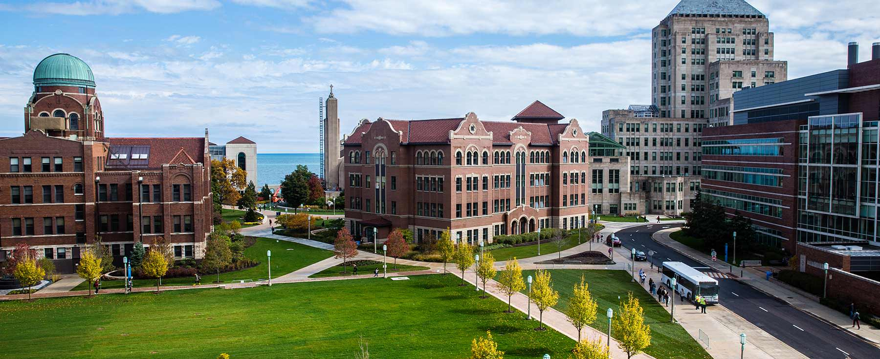 The psychology building at Loyola University Chicago