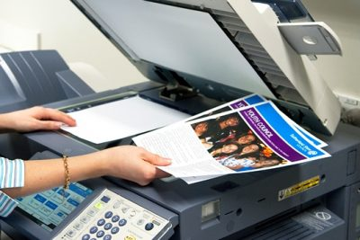 Photocopying and scanning services at the library