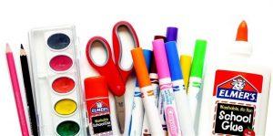 Different school supplies