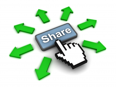 Graphic logo about media sharing