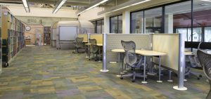 Study space in the Veterinary Medicine Library
