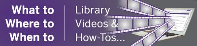 Western Libraries help videos