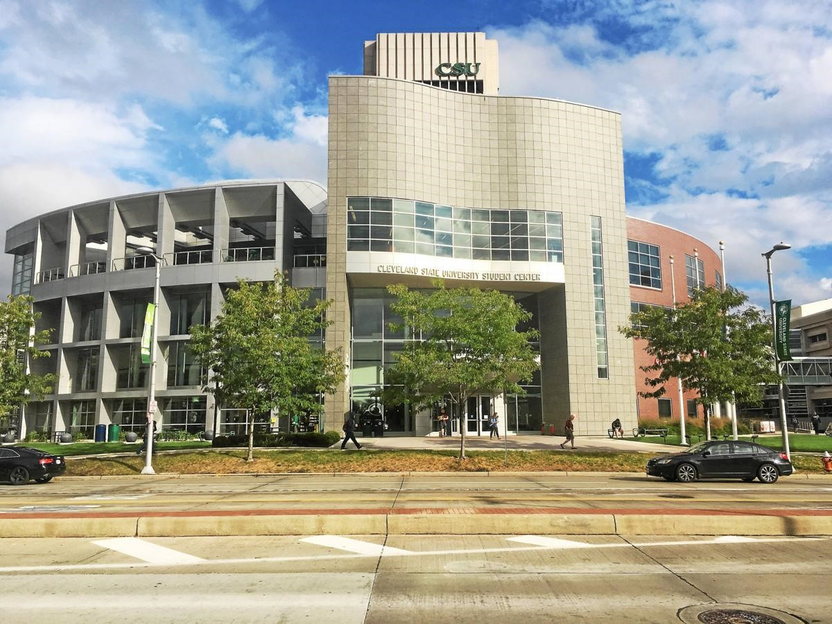 The main building at Cleveland State University