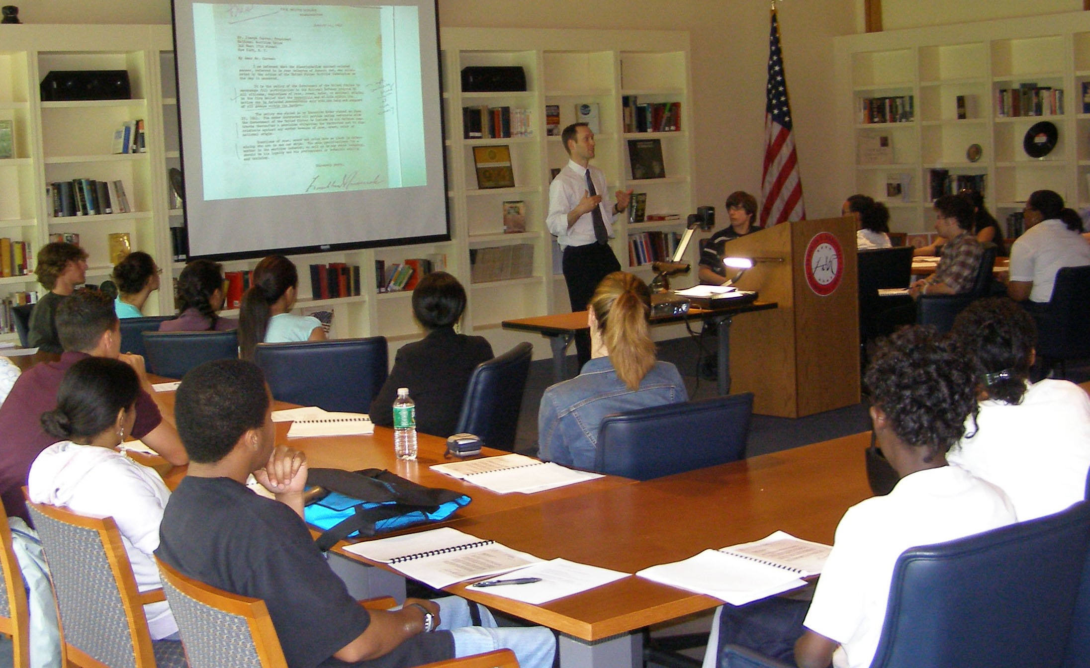 A library instruction session at Mesa Campus - Benedictine University