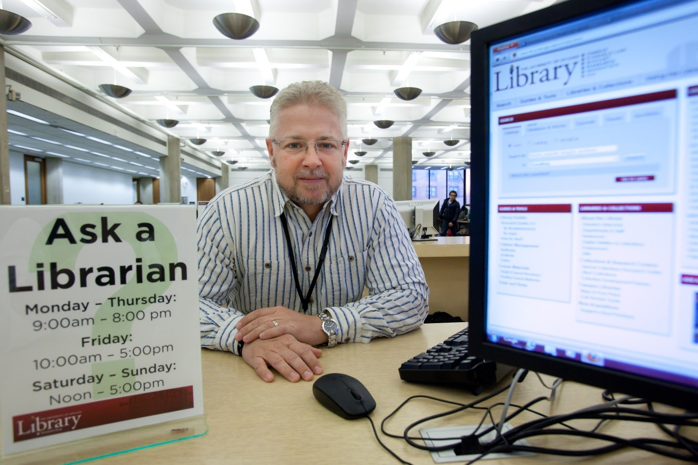 Photo of a librarian