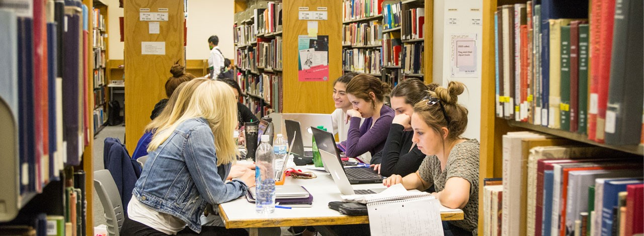 Students studying at FIT Library
