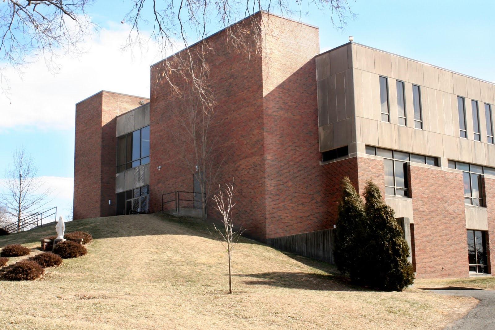 Back view of Benedictine University Library