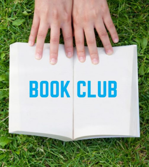 This poster is used to advertise for Book Club around campus.