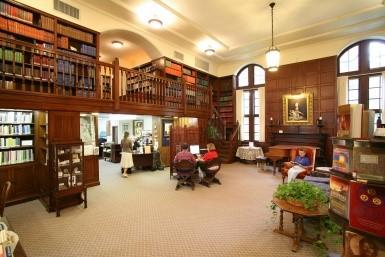 Interior photo of the Henry S. Olcott Memorial Library