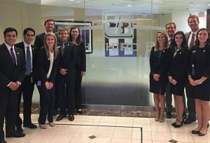 Finance students at Xavier University