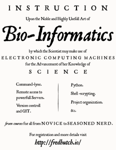 An outline of what bioinformatics entail.