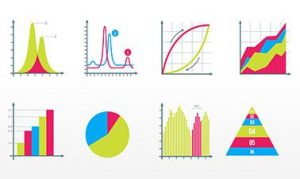 different colored graphs of stats