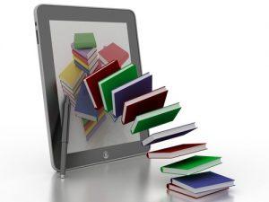 illustration of e-books