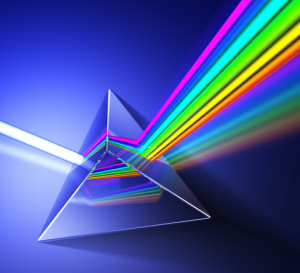 Image of a prism refracting light