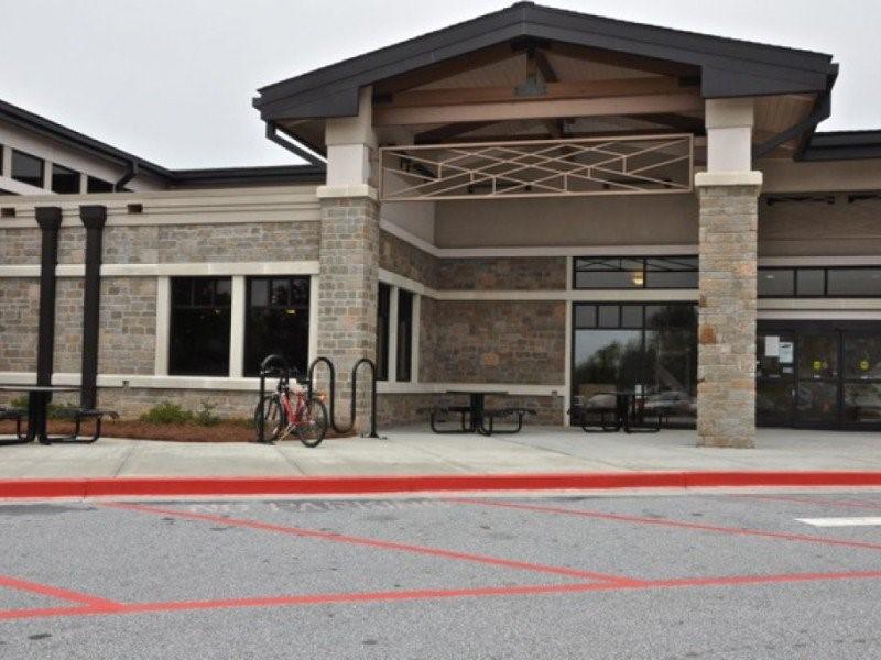 Parking space outside Gwinnett County Public Library, Grayson Branch