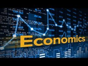 Economics sign and charts