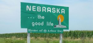 A Nebraska sign post