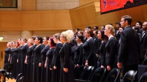 Texas State University choir members