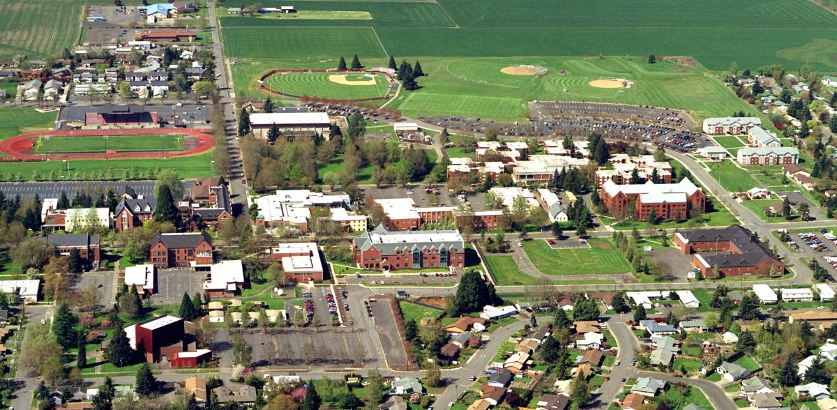 An aerial view of Western Oregon University