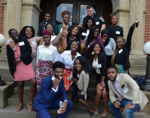 Photo showing members of the African Students Organization