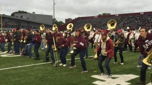The Alumni band performing at the Homecoming Event