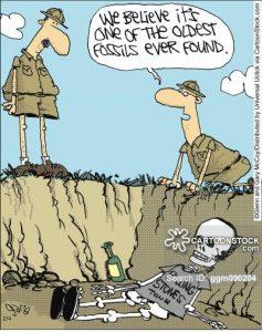 Archaeology cartoon and comics