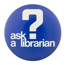 """Word art written """"Ask A Librarian"""""""