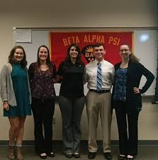 Beta Alpha Psi club officials