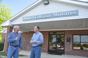 Outside the Baptist Collegiate Ministries (BCM) hall