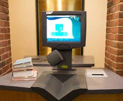 A computer for student to Borrow and Renew their books