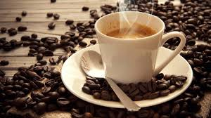 A cup of coffee at the cafe