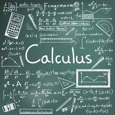 A calculus calculation on a green board