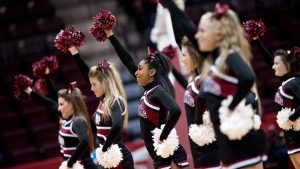 A live performance by the cheerleading club