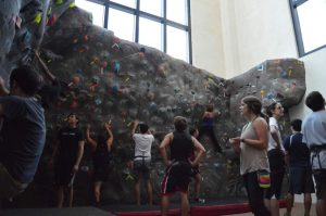 Inside one of the Climbing Club Recreation halls
