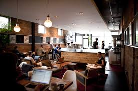 Students inside a Coffee Shop and Lounge