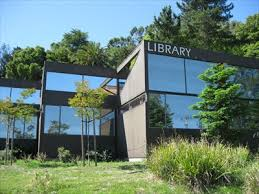 Front view of Corte Madera library